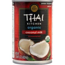 Coconut Milk, Canned 12x400 mil, Thai Kitchen